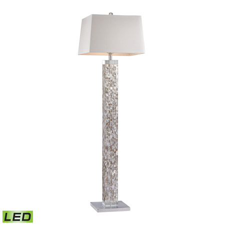Dimond D2896 Led Mother Of Pearl Led Floor Lamp