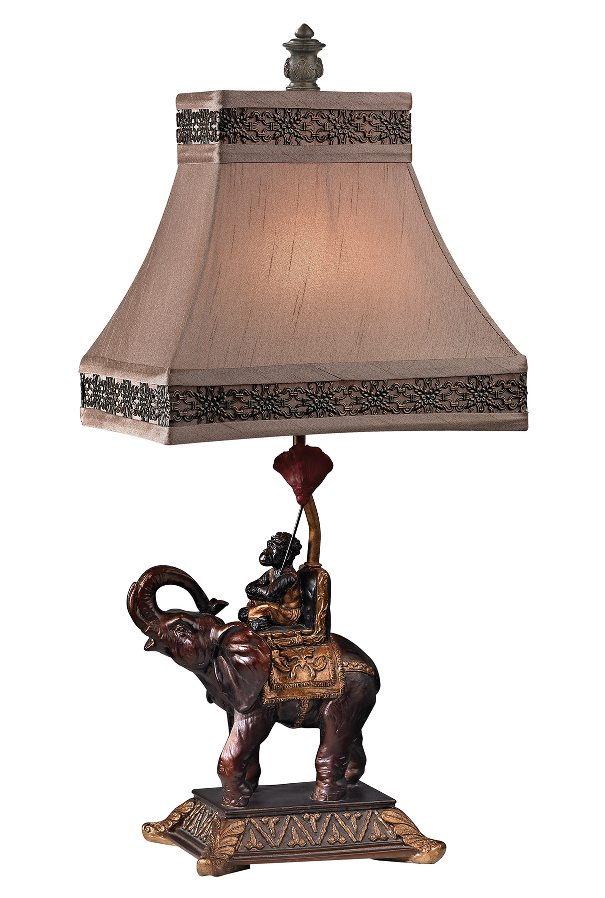 Dimond D2476 Alanbrook Monkey Riding An Elephant Table Lamp