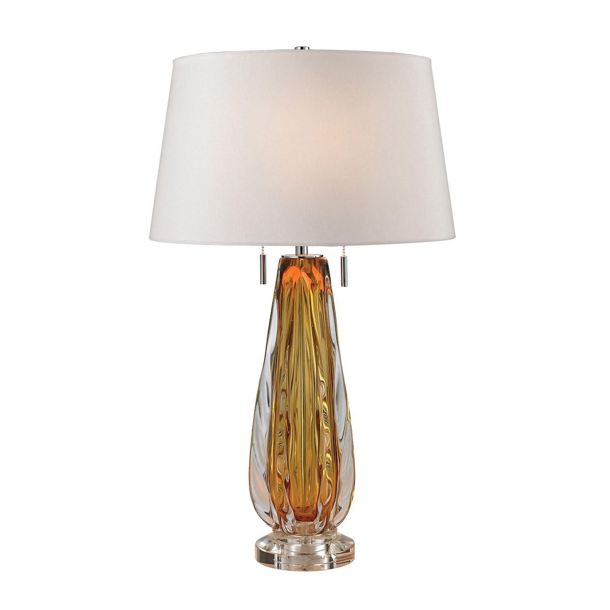 Elk Lighting D2669-LED Modena Free Blown Glass LED Table Lamp in Amber
