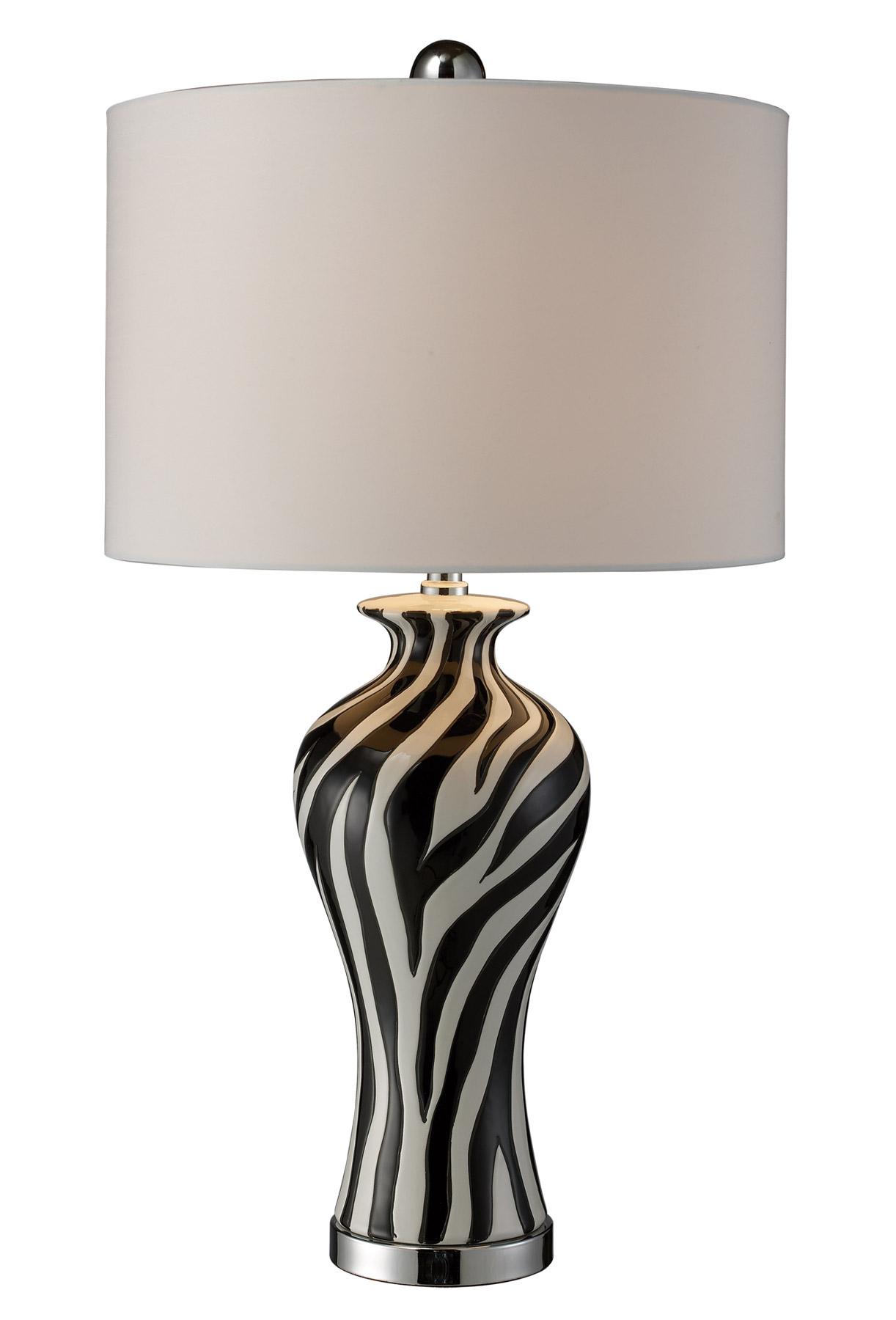 D1882 Carlton Zebra Print Table Lamp