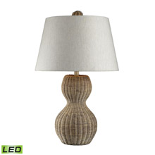 ELK Home 111-1088-LED Sycamore Hill Rattan LED Table Lamp in Light Natural Finish