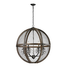 ELK Home 140-008 Renaissance Invention Wood And Wire Chandelier - Large