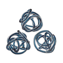 ELK Home 154-018/S3 Glass Knots Navy Blue - Set of 3