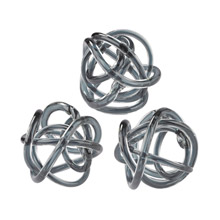 ELK Home 154-019/S3 Glass Knots Grey - Set of 3