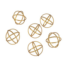 Dimond 351-10174/S6 Kule Decorative Gold Orbs (Set of 6)