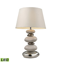 ELK Home 3948/1-LED Mary Kate & Ashley Elemis Mary-Kate And Ashley LED Table Lamp In White And Chrome