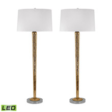 Dimond 711/S2-LED Mercury Glass LED Candlestick Lamp In Gold