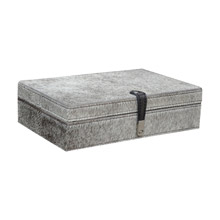 ELK Home 8819-023 Welsh Cob Grey Hairon Leather Box - Large