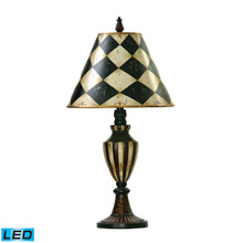 ELK Home 91-342-LED Harlequin And Stripe Urn LED Table Lamp in Black And Antique White