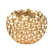 ELK Home 9166-030 Vivo Coral Texture Vessel In Gold