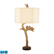 Dimond 93-052-LED Three Bird Light Three Bird 1 Light LED Table Lamp in Gold Leaf And Black