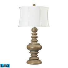 Dimond 93-9244-LED Moniac 1 Light LED Table Lamp In Bleached Wood