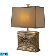 Dimond D1443-LED Laurel Run LED Table Lamp In Courtney Gold With Ria Bronze Shade And Cream Liner