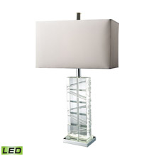 ELK Home D1813-LED Avalon LED Table Lamp In Clear Crystal And Chrome