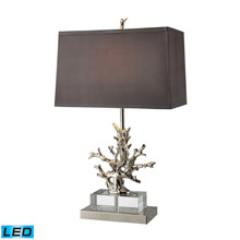 ELK Home D1867-LED Covington LED Table Lamp In Polished Nickel And Clear Crystal