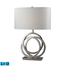 ELK Home D2058-LED Trinity LED Table Lamp In Polished Nickel With Pure White Shade