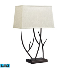 ELK Home D2209-LED Winter Harbour Hammered Iron LED Table Lamp In Bronze