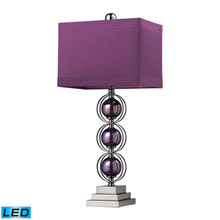 ELK Home D2232-LED Alva Contemporary LED Table Lamp In Black Nickel And Purple