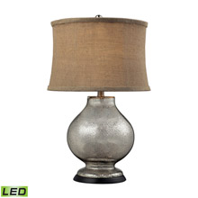 ELK Home D2239-LED Stonebrook LED Table Lamp In Antique Mercury Glass With Burlap Shade