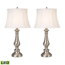 ELK Home D2366/S2-LED Trump Home Fairlawn LED Table Lamps in Nickel - Set of 2