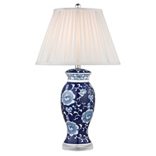 Asian table lamps lamps beautiful dimond d2474 blue white table lamp mozeypictures Choice Image