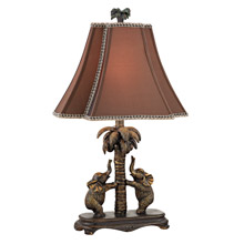 Dimond D2475 Adamslane Elephants On A Palm Tree Table Lamp
