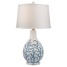 ELK Home D2478 Sixpenny Blue Coral Ceramic Table Lamp