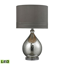ELK Home D252-LED Bubble Glass LED Table Lamp in Mercury Plate Finish
