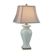ELK Home D2632 Celadon Table Lamp in Glazed Green Ceramic With Antique Brass Accents