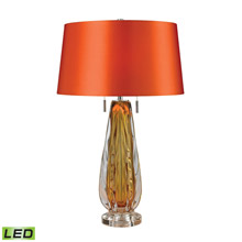 ELK Home D2669-LED Modena Free Blown Glass LED Table Lamp in Amber