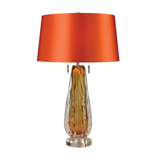 ELK Home D2669 Modena Free Blown Glass Table Lamp in Amber