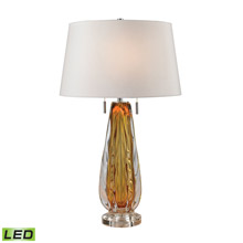 ELK Home D2669W-LED Modena Free Blown Glass LED Table Lamp in Amber