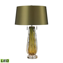 ELK Home D2670-LED Modena Free Blown Glass LED Table Lamp in Green