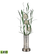 Dimond D2715 Windbear Floral Display Floor Lamp In Silver