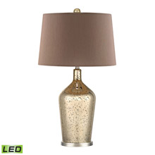 Dimond D355-LED Glass Bottle LED Table Lamp In Gold Antique Mercury Glass