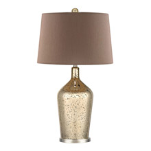 Dimond D355 Glass Bottle Table Lamp In Gold Antique Mercury Glass
