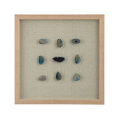 Transitional Theo Blue Agate Shadow Box - Dimond 3168-021