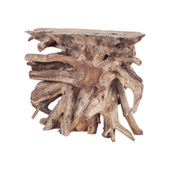 Transitional Yava Natural Teak Slice Console Table - ELK Home 7011-006