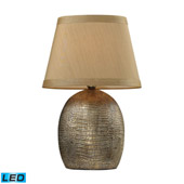 Traditional Gilead LED Table Lamp With Alligator Texture Base In Meknes Bronze - ELK Home D2222-LED