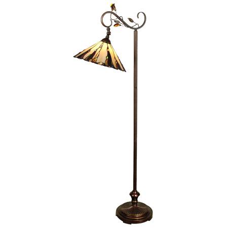 Dale Tiffany Tf90263 Tiffany Downbridge Bridge Arm Floor Lamp