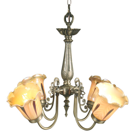 Dale Tiffany Th70240 Columbus Tulip Chandelier