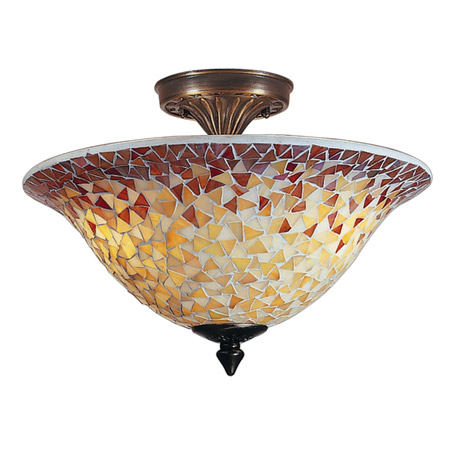 ... Tiffany TM100552 Cassidy Mosaic Semi-Flush Mount Ceiling Light Fixture