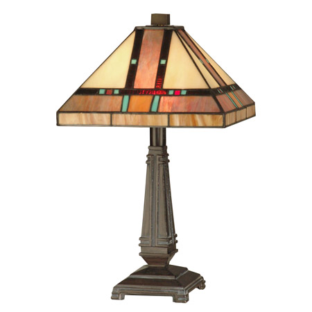 Dale Tiffany Tt10090 Craftsman Petite Table Lamp
