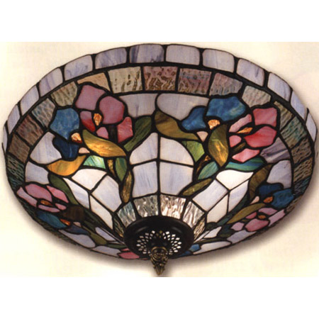 Dale Tiffany LTF Tiffany Iris Flush Mount Ceiling Fixture - Tiffany kitchen ceiling lights
