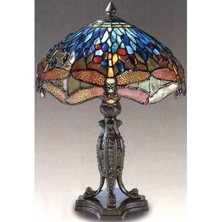 Dale Tiffany 7703/637 Tiffany Dragonfly Reproduction Table Lamp