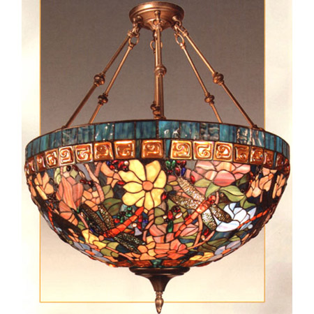 Dale Tiffany Th60096 Tiffany Dragonfly Inverted Hanging Lamp