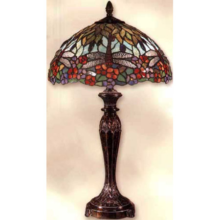 Dale Tiffany Tt100588 Tiffany Dragonfly Table Lamp