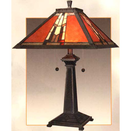 Craftsmanmission table lamps lamps beautiful dale tiffany tt100716 table lamp aloadofball Image collections