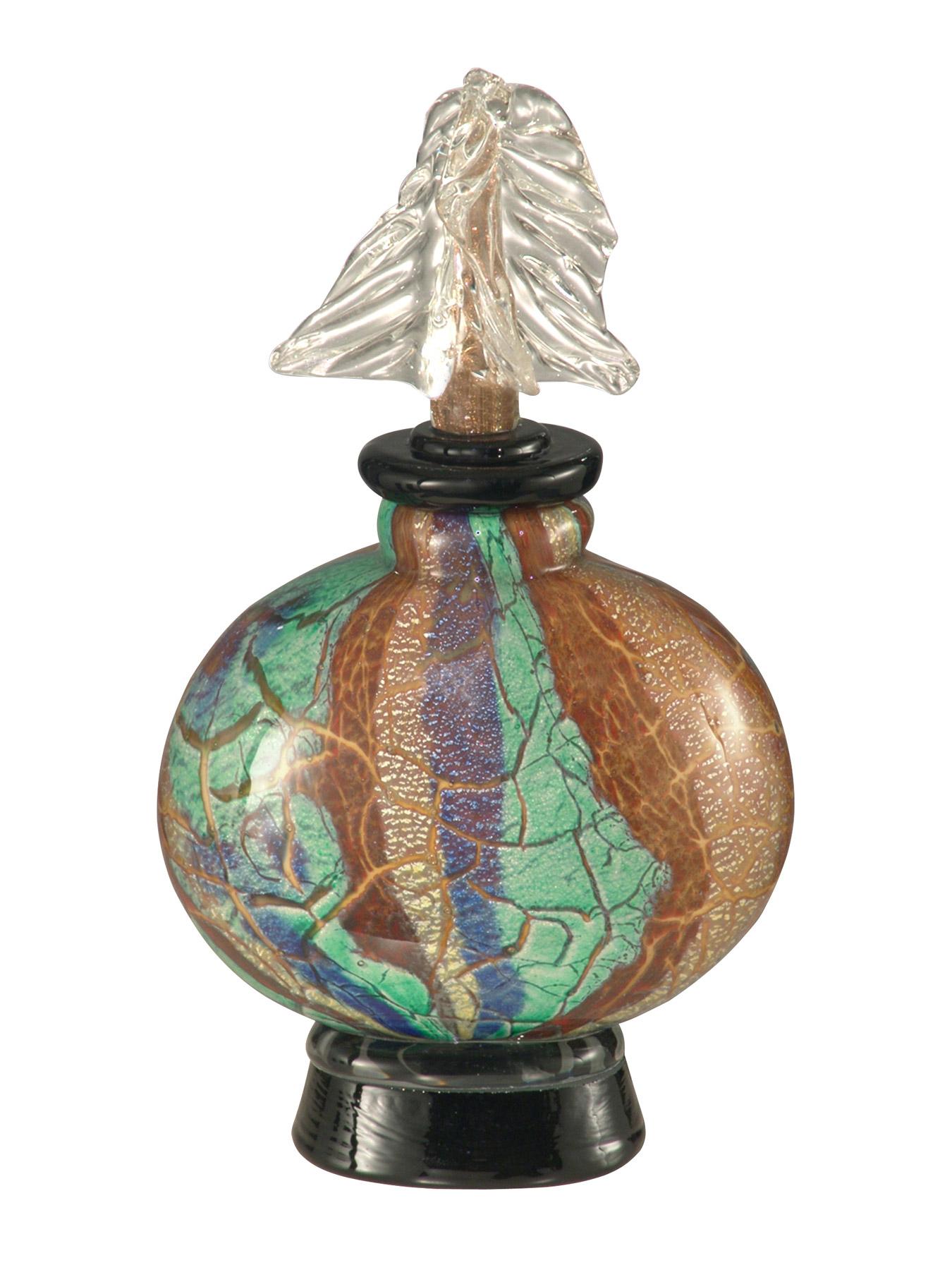 Dale Tiffany AV12083 Crackle Glass Decorative Perfume Bottle