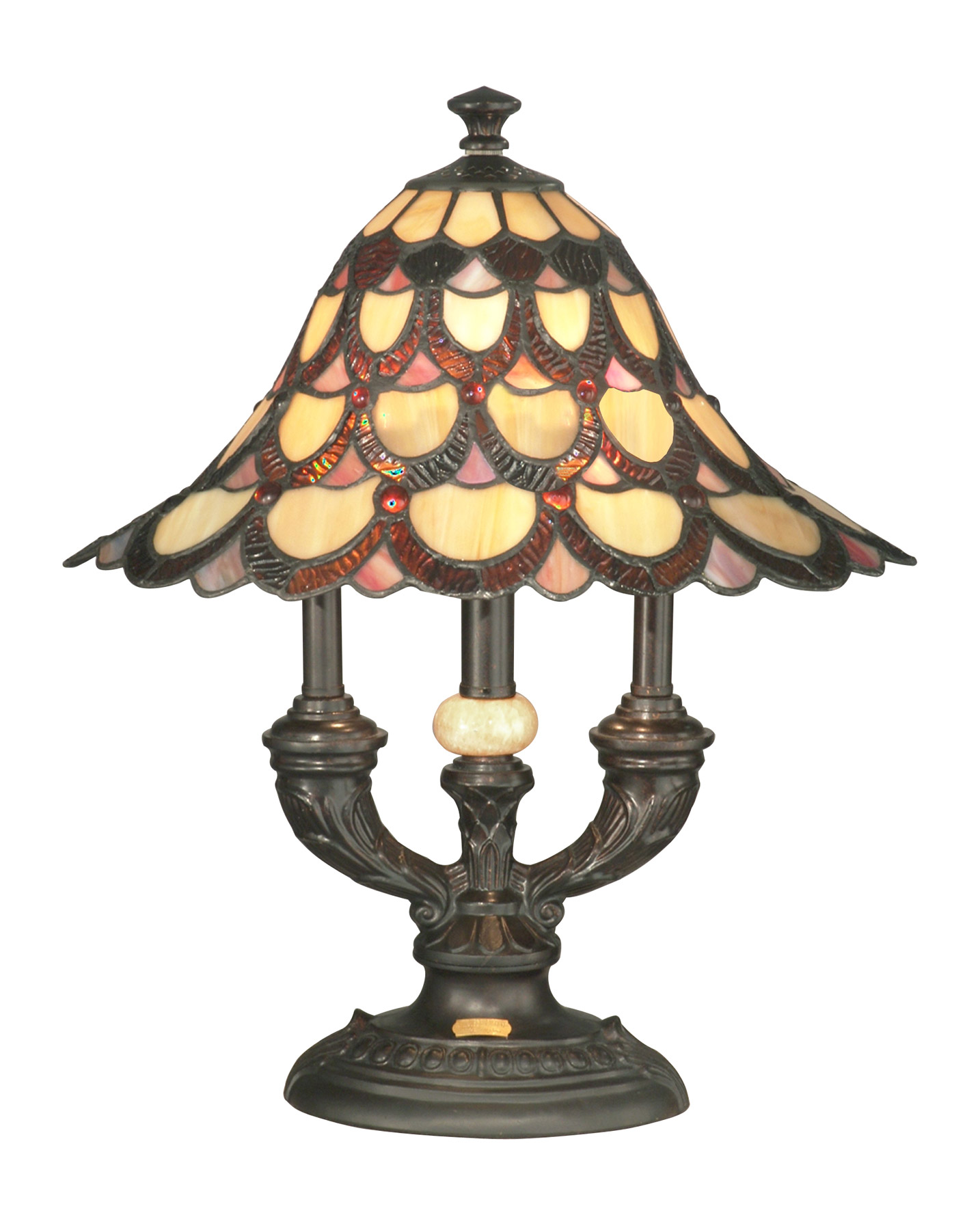 Dale Tiffany Ta70112 Tiffany Peacock Accent Lamp